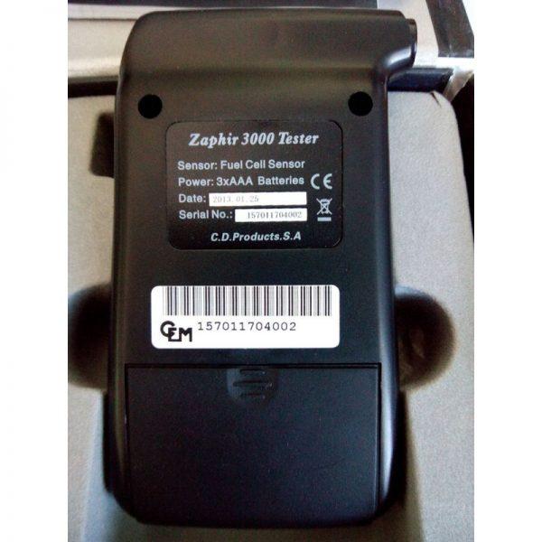 Alcoholímetro Digital Zaphir CDP 3000