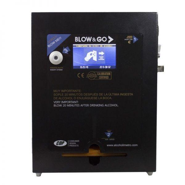 Alcoholímetro a monedas BLOW & GO CDP 4600 Black Digital