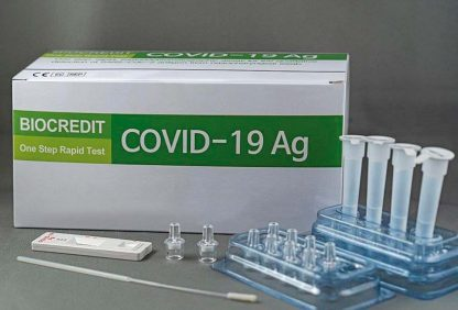 Prueba rápida de antígeno de SARS-CoV-2 Biocredit– Pack 20 test