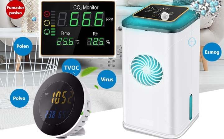 Purificadores y medidores de la calidad del aire