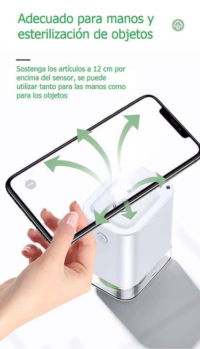 Atomizador de alcohol ultrasónico para desinfección de manos y objetos_Es