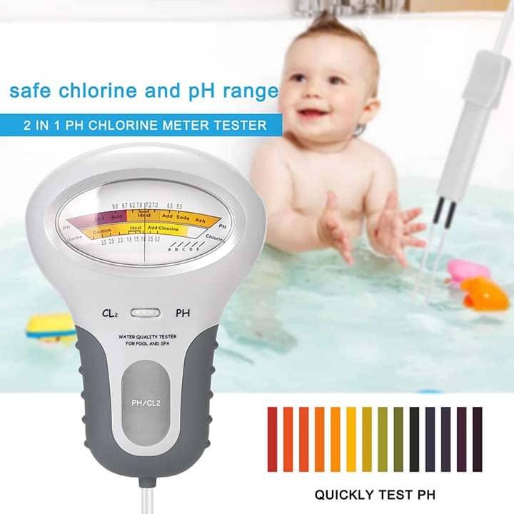 Medidor de Cloro y PH para piscinas y SPAS. 2 en 1