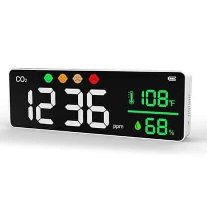 Monitor CO2 Portátil con batería de litio 2000 mAh CDP-DM1306 Homologado CE