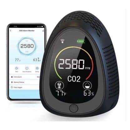 Monitor CO2 Combo con detector de humo y conectividad Wifi_00B